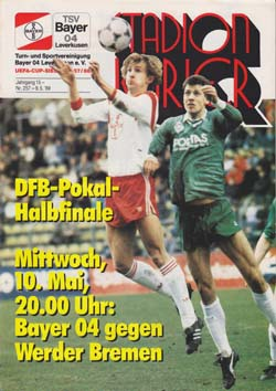 Programm 1988//89 SV Waldhof Mannheim Mönchengladbach