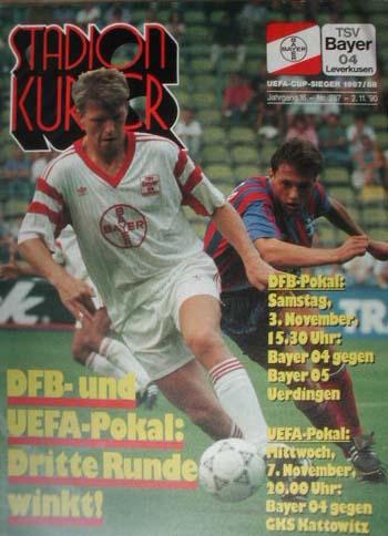 Panathinaikos Athen Programm EC 1993//94 Bayer Leverkusen